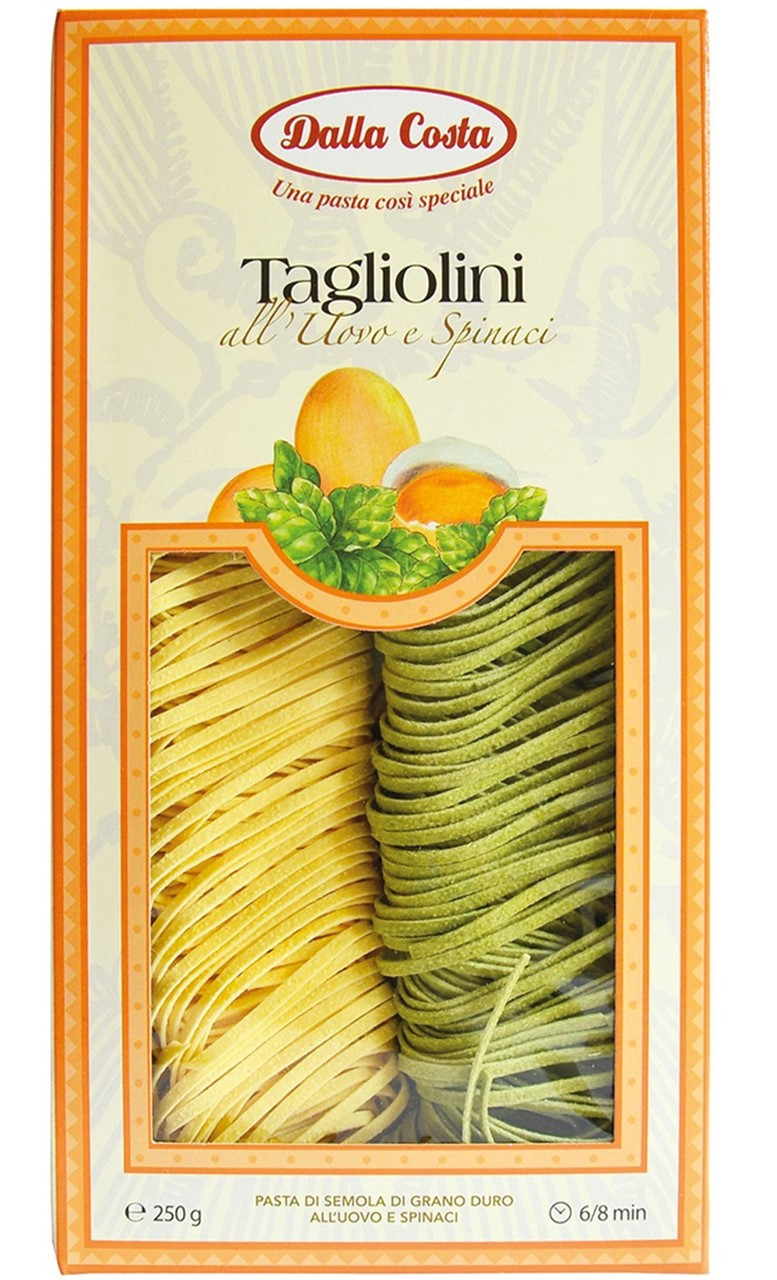 Макарони DALLA COSTA Tagliolini (Яєчні жовтки та шпинат)