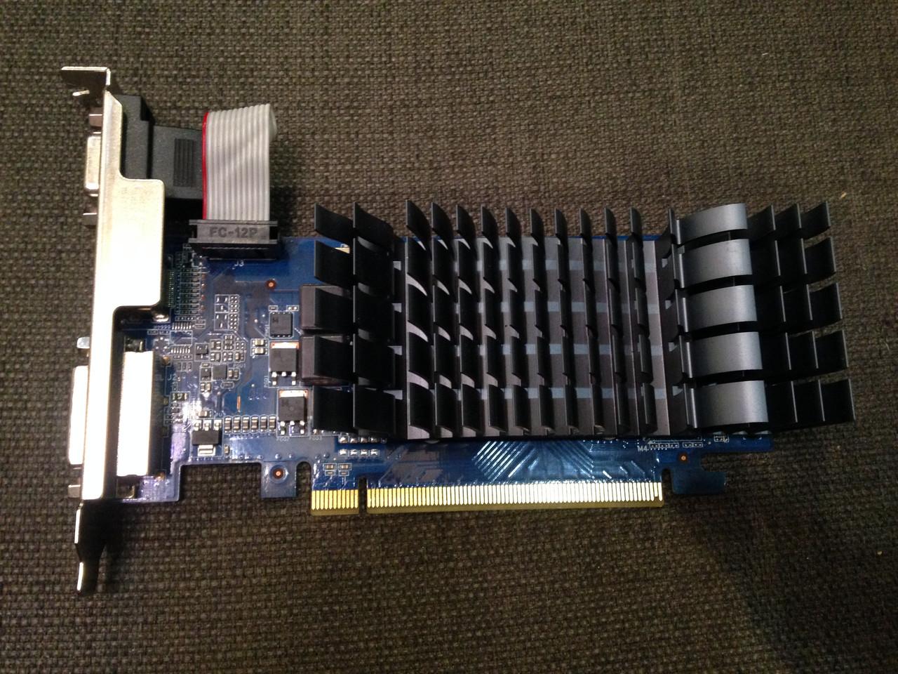 ВИДЕОКАРТА Pci-E GEFORCE c HDMI : GT210 на 1 GB DDR3 с ГАРАНТИЕЙ ( видеоадаптер GT 210 1gb  )