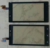 Sony Xperia J ST26i тачскрін сенсор чорний оригінальний