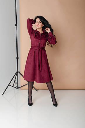 Замшевое красивое платье (2 цвета), фото 2