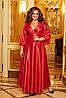 Розкішна блискуча довга вечірня сукня на запах з глибоким вирізом, батал великі розміри, фото 6