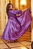 Розкішна блискуча довга вечірня сукня на запах з глибоким вирізом, батал великі розміри, фото 4