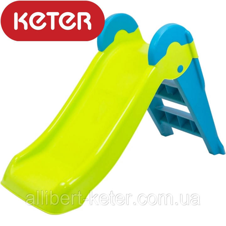Дитяча гірка Keter Boogie Slide ( Without Base ) Light-Green with Turquoise ( світло/зелений бірюзовий )