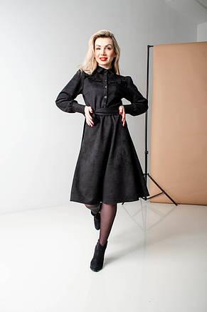 Замшевое красивое платье (2 цвета), фото 3