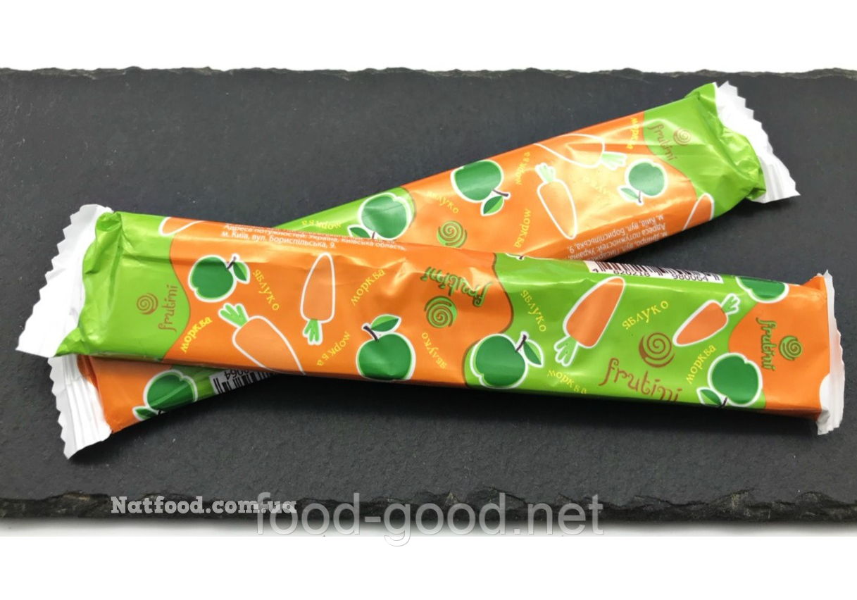 Пастила натуральная морковно-яблочная, 25г