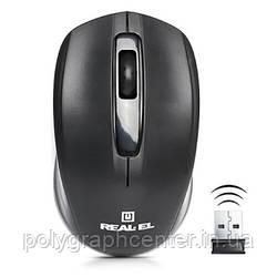 Мишка безпровідна REAL-EL RM-304 Black USB