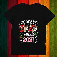 """Футболка з новорічним принтом """"Goodbye 2020. Hello 2021"""" Push IT"""