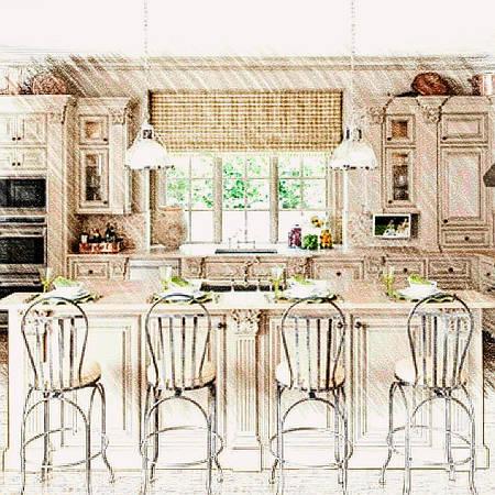 Пошив гардин в кухню