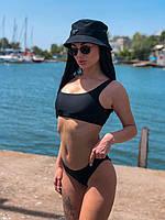 Купальник раздельный пляжный bogema черный