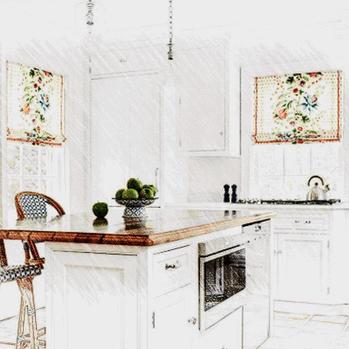 Пошив штор для светлой кухни