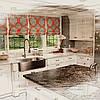 Пошив штор для светлой кухни, фото 3