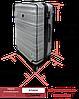 Чехол на средний чемодан из ПВХ Coverbag прозрачный
