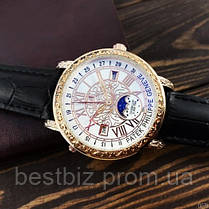 Годинники чоловічі наручні Patek Philippe Grand Complications 6002 Sky Moon Black-Gold-White Репліка ААА класу, фото 2