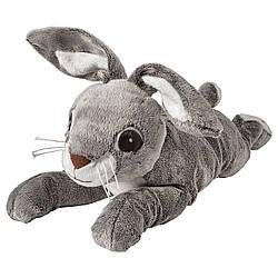 М'яка іграшка IKEA VANDRING ЗАЄЦЬ заєць сірий 40 см (402.160.84)