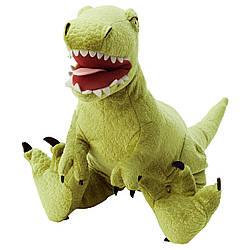 М'яка іграшка IKEA JATTELIK динозавр/тиранозавр Рекс 44 см (904.711.71)