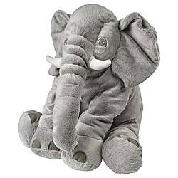 М'яка іграшка IKEA JATTESTOR слон сірий 60 см (703.735.91)