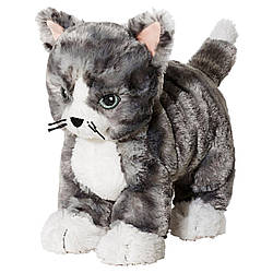Мягкая игрушка IKEA LILLEPLUTT кот серый белый 002.604.51