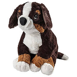 М'яка іграшка IKEA HOPPIG собака бернська вівчарка білий 36 см 902.604.42