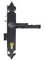 Замок для ворот (калитки) с ручками под ковку Imperial серый