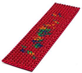 Аплікатор Ляпко 6,2 Ag Супутник Плюс розмір 59 х 235 мм голчастий масажний міні килимок від болю Червоний