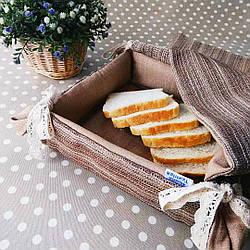 Хлібниця текстильна для подачі хліба, печива