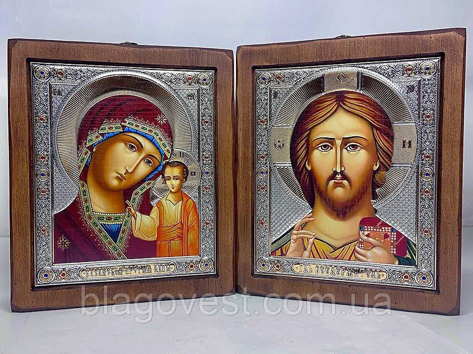 Икона под старину Визант. полный оклад 210х250мм пара (