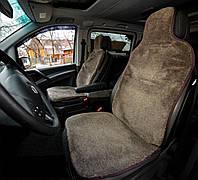 Меховые накидки для автомобильного кресла, коричневый 100%