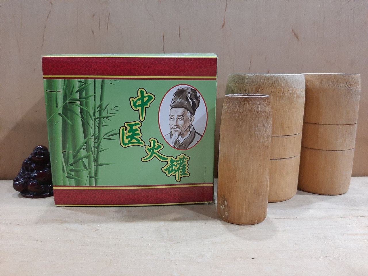 Бамбуковые банки для массажа набор 3 шт