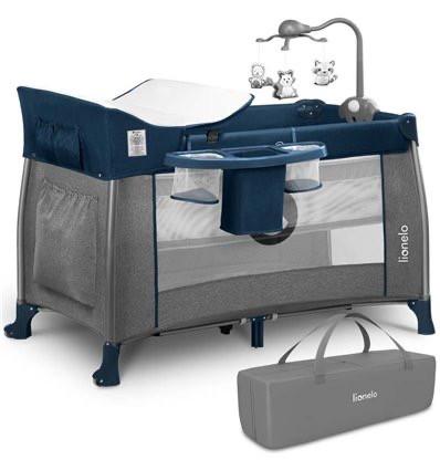 Кроватка-манеж Lionelo THOMI Blue navy
