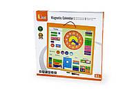 Магнитный календарь Viga Toys на английском языке (50377)