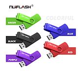 USB OTG флешка Nuiflash 32 Gb type-c - USB A Цвет Фиолетовый ОТГ для телефона и компьютера, фото 6