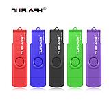 USB OTG флешка Nuiflash 32 Gb type-c - USB A Цвет Синий ОТГ для телефона и компьютера, фото 7