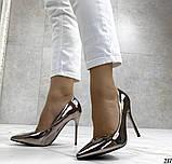 Женские туфли, туфли на выпускной ,серебро, фото 2