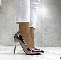 Женские туфли, туфли на выпускной ,серебро, фото 1