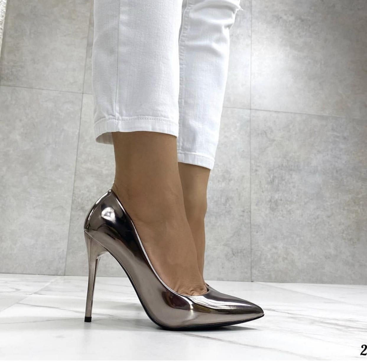 Женские туфли, туфли на выпускной ,серебро