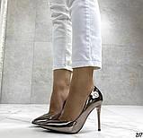 Женские туфли, туфли на выпускной ,серебро, фото 3