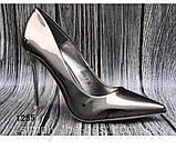 Женские туфли, туфли на выпускной ,серебро, фото 4