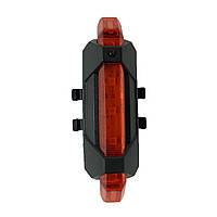 Габаритный фонарь-мигалка DC-918 USB в защите красный (видео), фото 1
