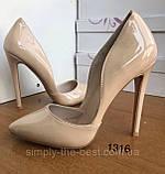 Жіночі бежеві туфлі шкіряні, фото 7