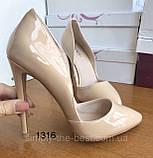 Жіночі бежеві туфлі шкіряні, фото 8