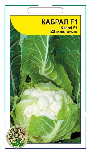 Кабрал F1 семена капусты, 20 семян — цветная, средняя (75-80 дней), Syngenta
