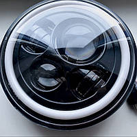 Оптика фары Ваз 2106 1 шт Универсальные светодиодные фары 60 ватт Led 5.75 дюймов Ангельские глазки фары 2103