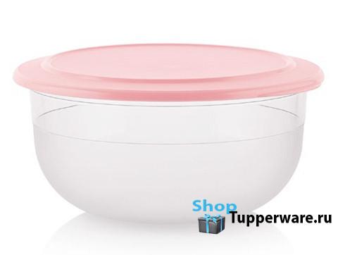 Tupperware Сервировочная чаша 2,1 л с розовой крышкой