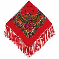 Українська хустка народна червона (120х120)