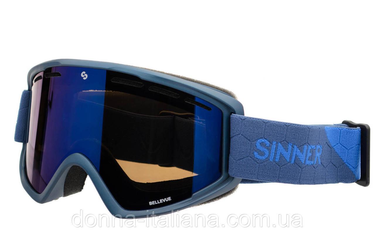 Маска гірськолижна Sinner BELLEVUE METALIC BLUE-Full BLUE mir Navy (SIGO-173-50-48)