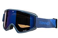Маска гірськолижна Sinner BELLEVUE METALIC BLUE-Full BLUE mir Navy (SIGO-173-50-48), фото 1