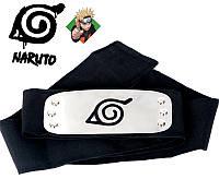 Повязка Наруто Naruto. Повязка с символикой деревни скрытой в листве - Коноха. Бандана Наруто Naruto 95 х 5 см