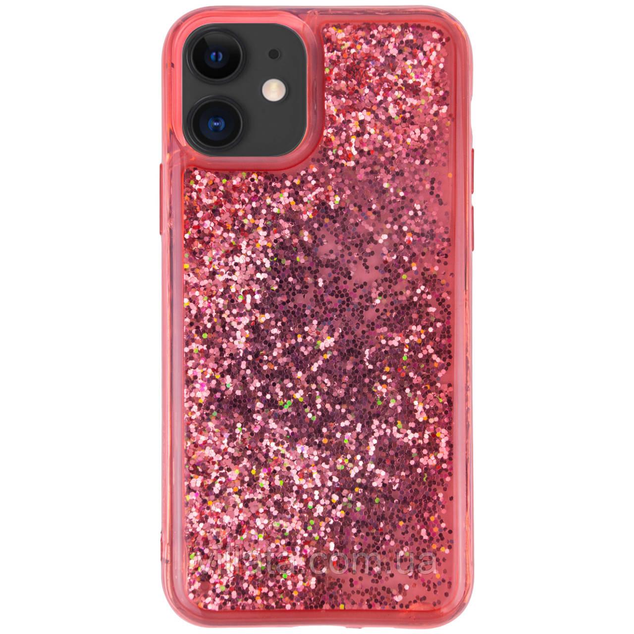 "TPU+PC чехол Sparkle (glitter) для Apple iPhone 11 (6.1"") Красный"