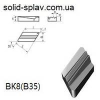 KNUX 08116-190610-136 ВК8(В35) пластина сменная твердосплавная