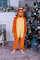 Пижама кигуруми тигрюля детская теплая велсофт (ворсистый флис), фото 1